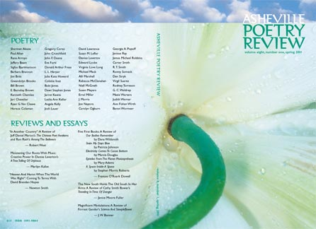 cover design for 2001 Asheville Poetry Review